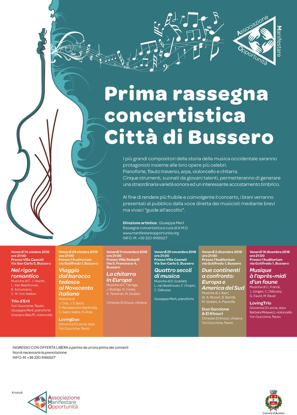 """Rassegna concertistica """"Città di Bussero"""""""